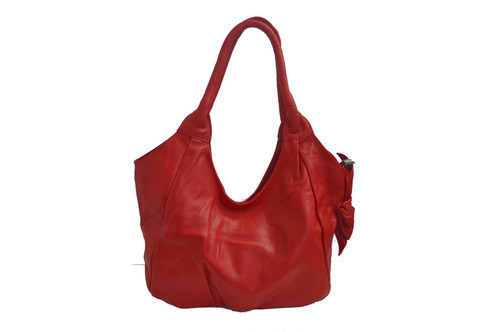 Soft Genuine Leather Handbag Made in Italy Red | Leather Handbag ...