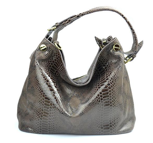 Leather Shoulder bag high quality python design