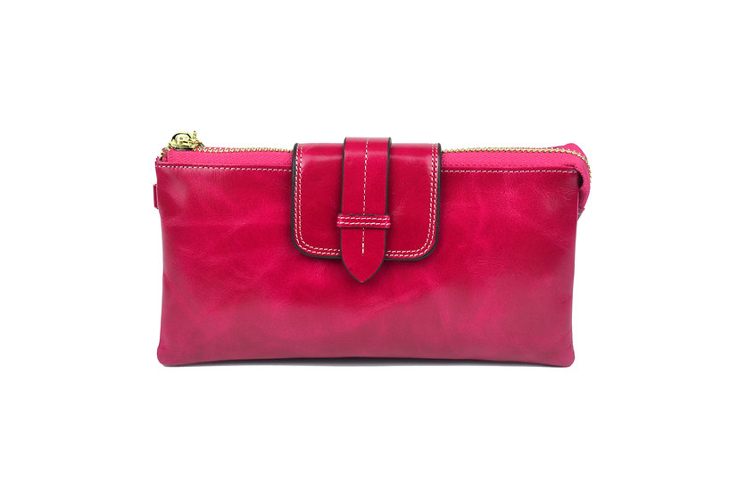AMICA limited edition leather wallet-bag FUCHSIA