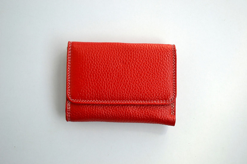 Red Leather Small Wallet DANIELA MODA