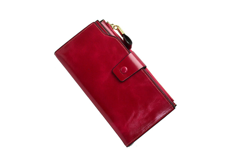 Women Leather Wallet Fuchsia