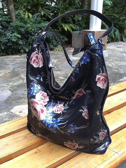 Shoulder bag flower roses