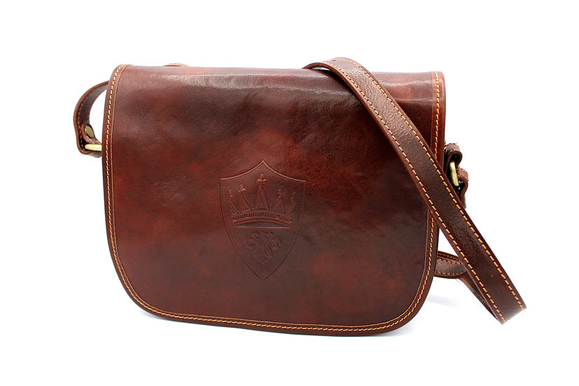 shoulder bag in cowhide leather made in Italy