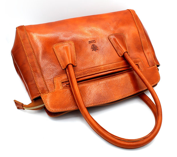 Leather Bag, Tote Bag Leather Purse, High Quality Handmade in Italy Amica