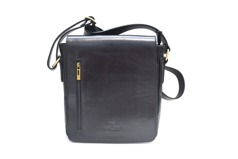 LEATHER BAG MADE IN ITALY CAVALIERI BLACK
