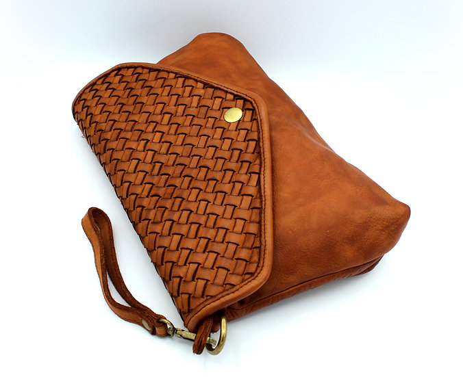 Leather bag Crossbody bag Handmade Woven Leather