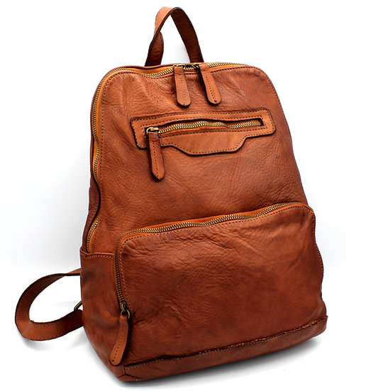 Leather backpack super soft Leather, Made in Italy Florence Amica Leather bag