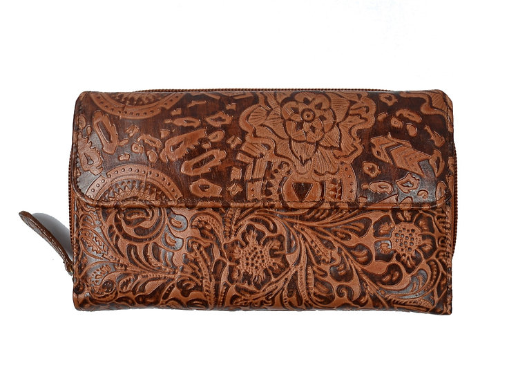 leather wallets for ladies Brown