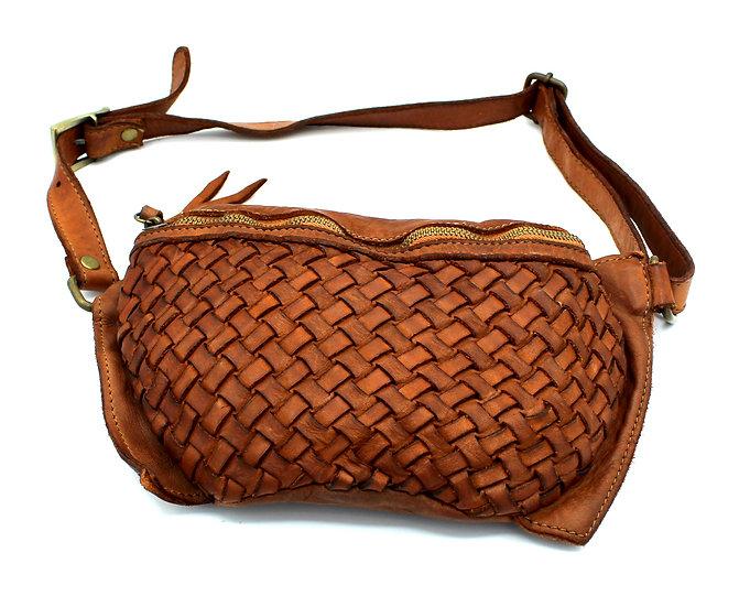 One shoulder bag Crossbody Handmade woven Leather