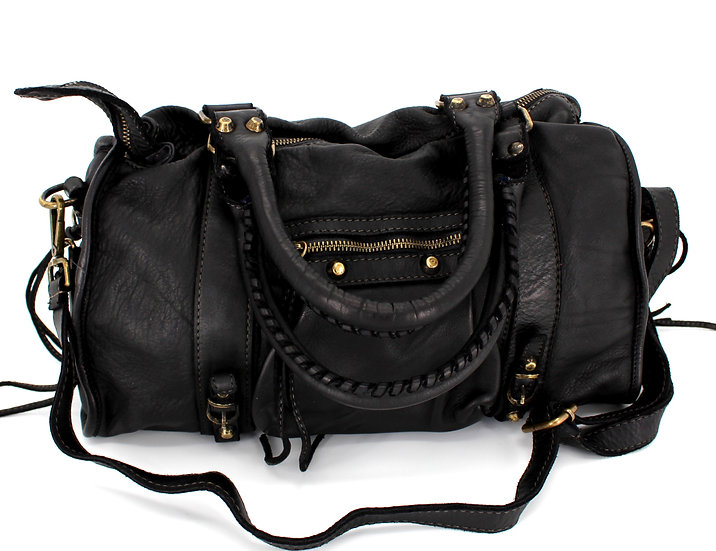 Leather Bag in Soft Leather Made in Italy