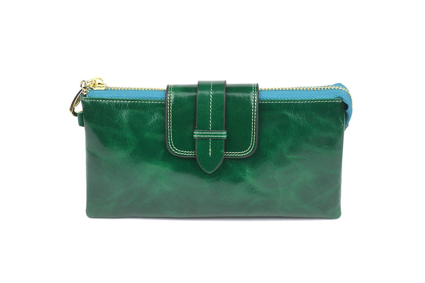AMICA limited edition leather wallet-bag EMERALD