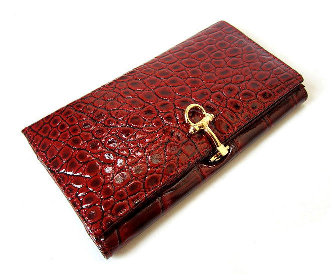 Amica Leather women wallet crocodile