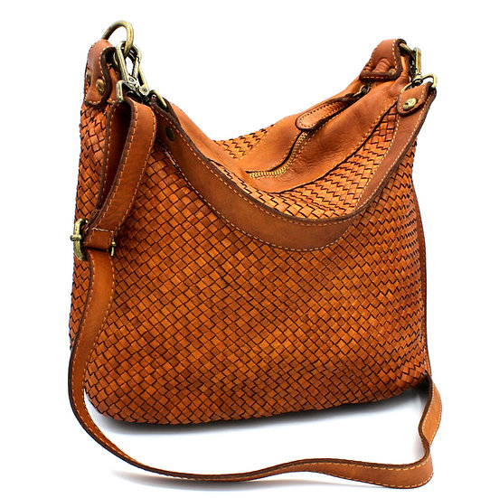 Woven Leather Bag Made in Italy Amica