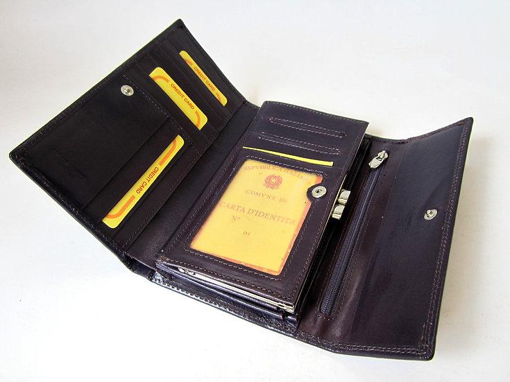Women Leather Wallet Daniela Moda Italy