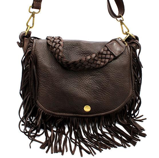 Leather bag fringes Crossbody bag