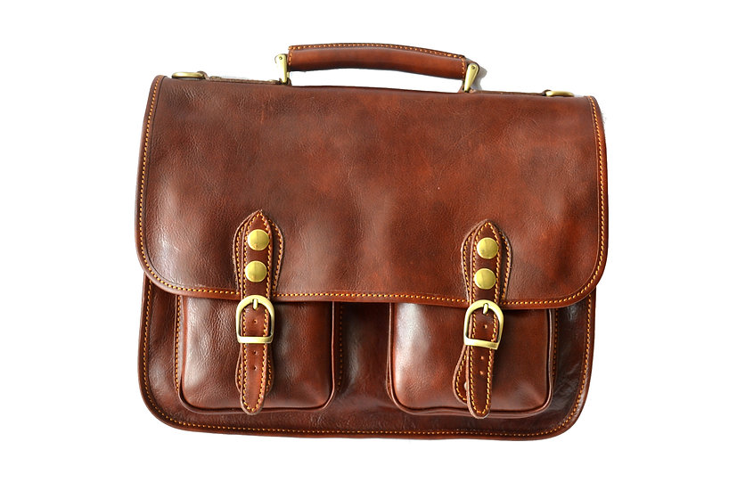 Man Leather Briefcases Made in Italy