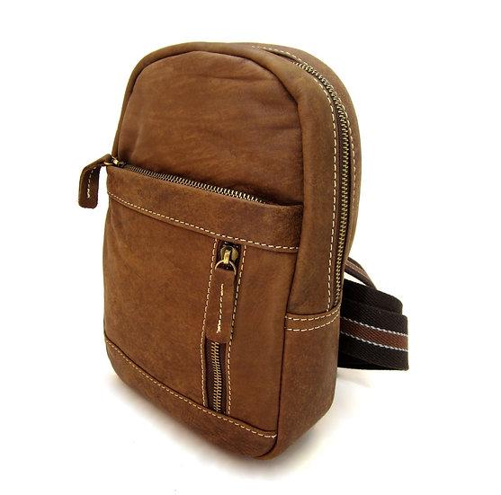 Leather bag crossbody Nubuck One shoulder bag