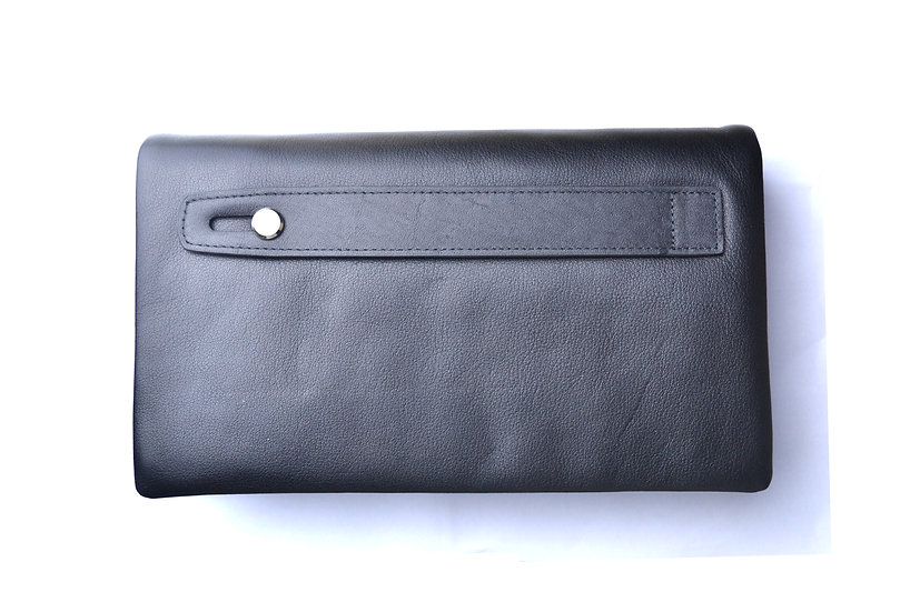 Hand leather wallet unisex