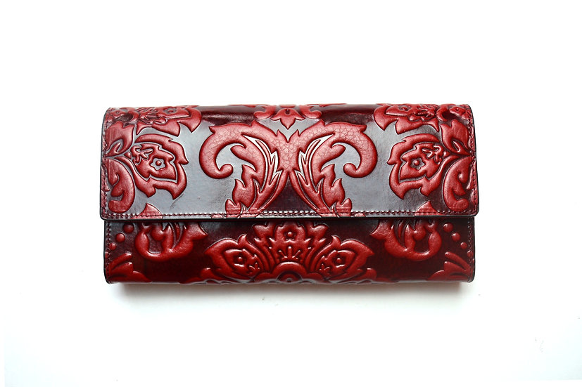 Elegant Leather Wallet Hight quality 007, Red
