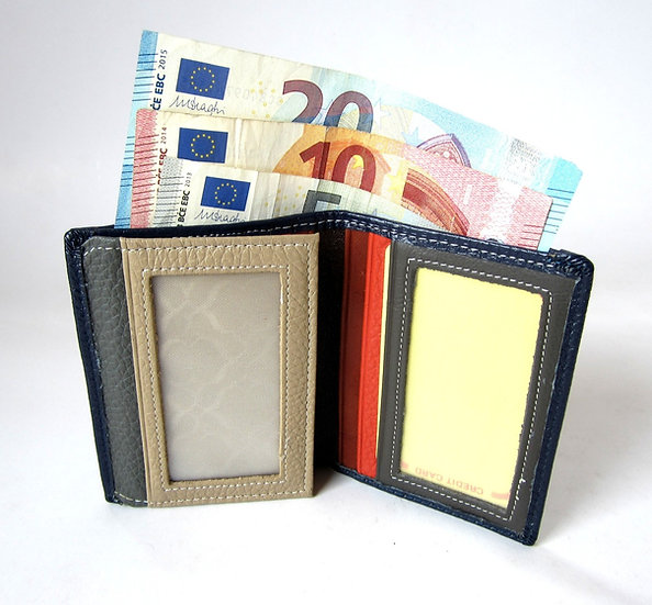Slim pocket leather wallet