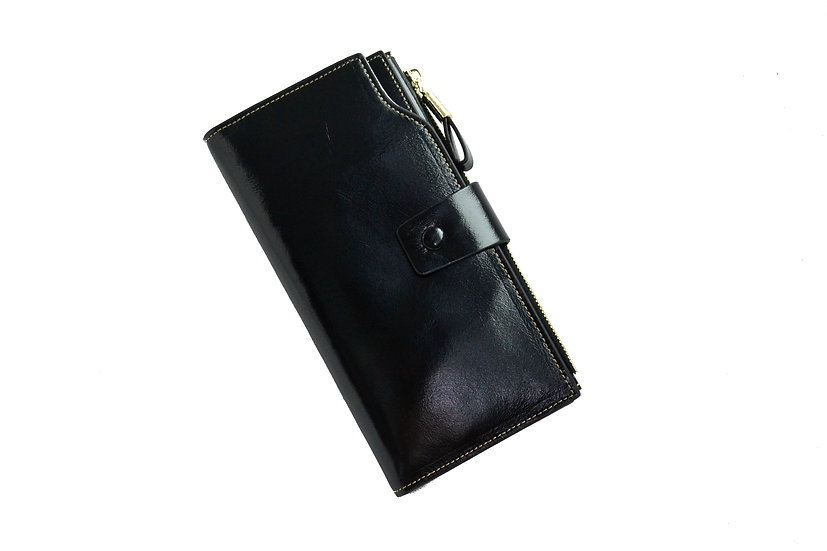 Women Leather Wallet Black