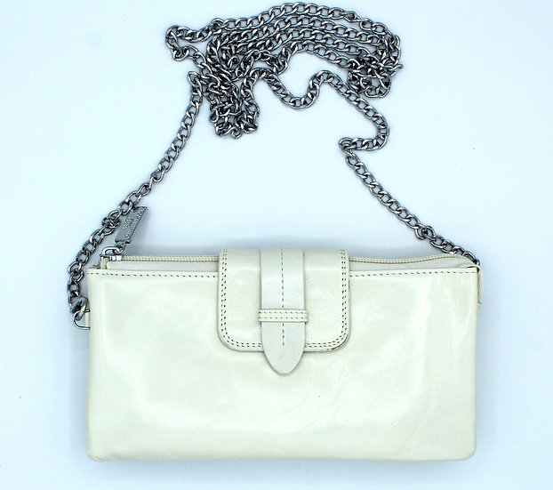 hand carry wallet Genuine Leather Pearl White