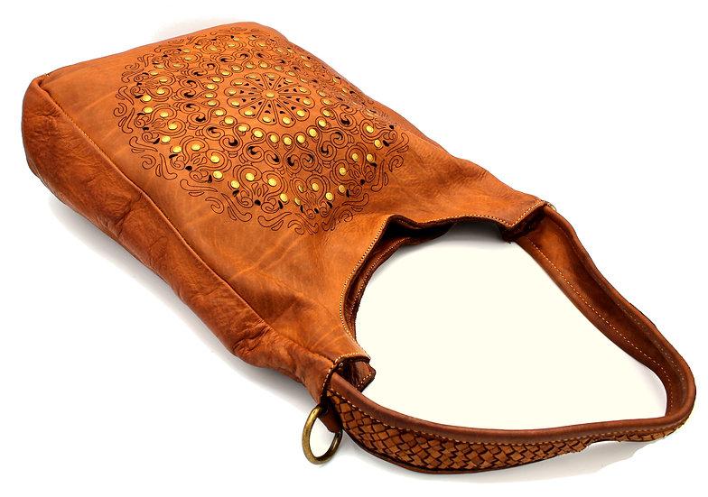 Shoulder Leather bag studs Laser engraver Bag