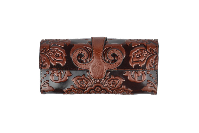 Vera Pelle Cow Leather Wallet Brown