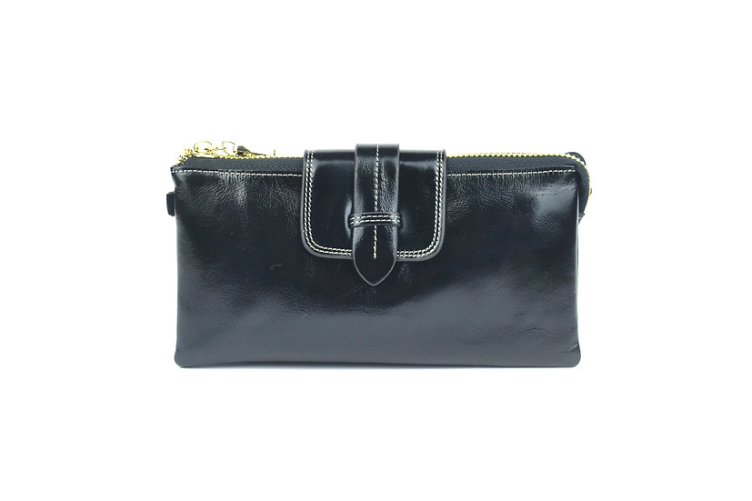 AMICA limited edition leather wallet-bag BLACK