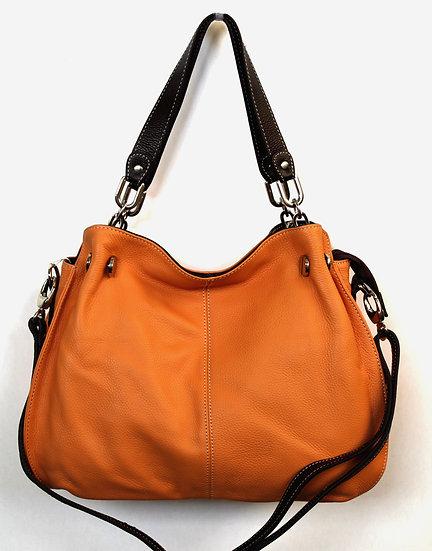 Leather handbag Apricot