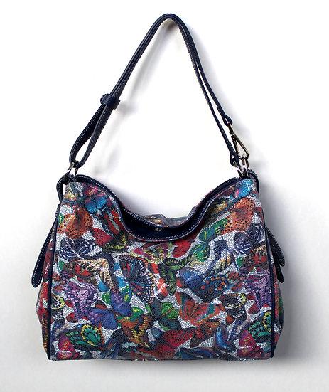 Leather handbag butterfly Florence Vera Pelle