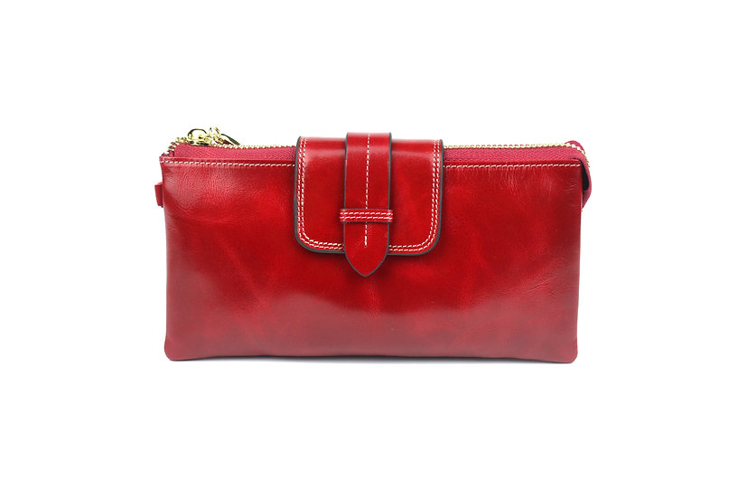 AMICA limited edition leather wallet-bag RED