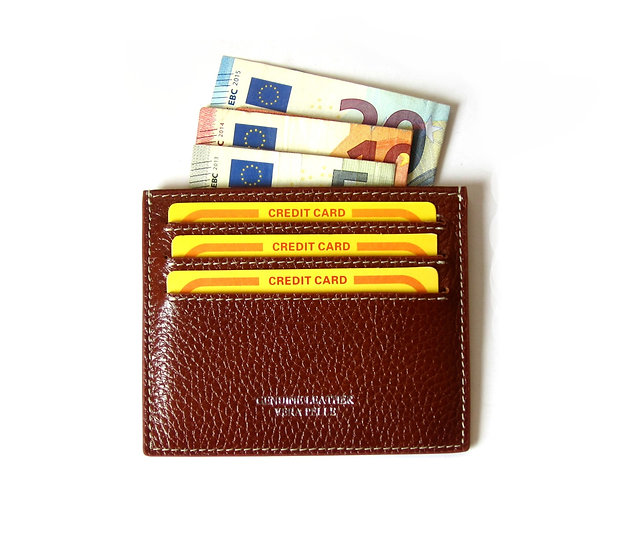 Card Holder leather thin wallet cow leather wallet