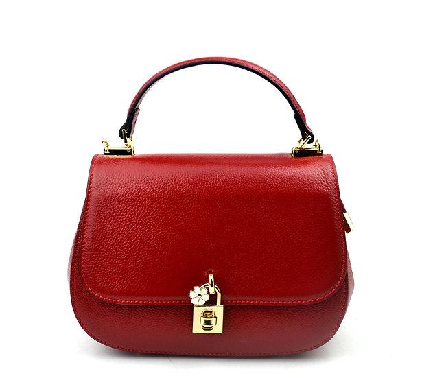 Leather bag padlock Genuine Leather
