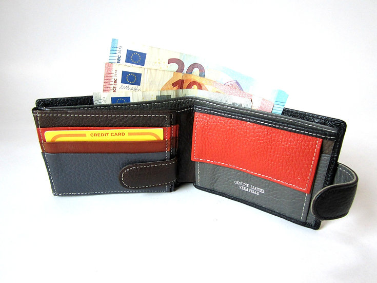 Small man wallet in cow leather