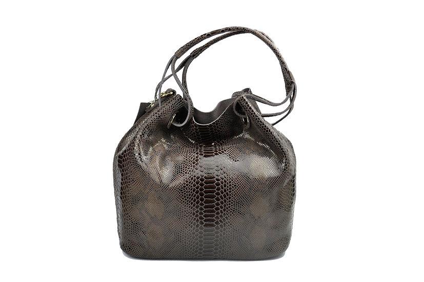 Leather bag high quality python design