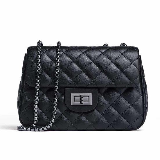 Soft Leather bag, black small purse