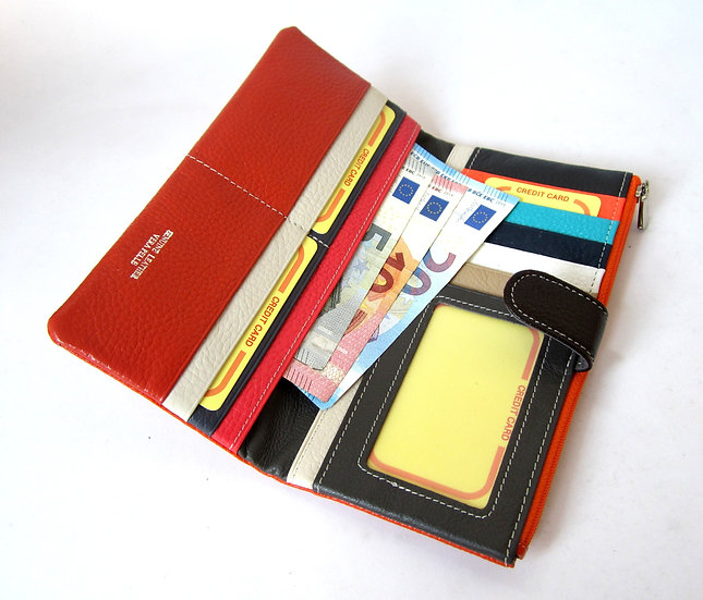 long leather wallet Amica Italy