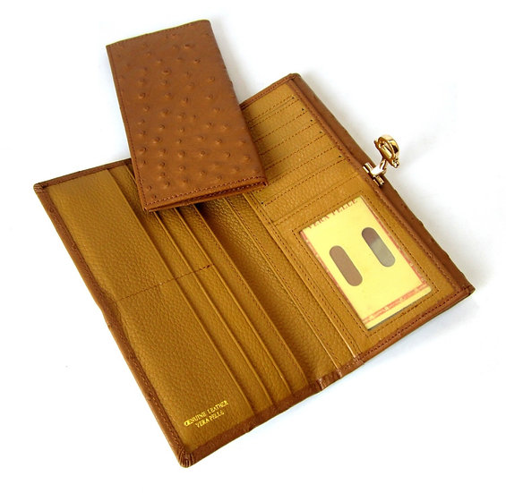 Ostrich Leather Women Wallet