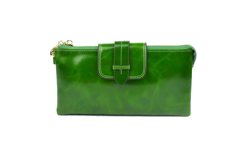 AMICA limited edition leather wallet-bag GREEN