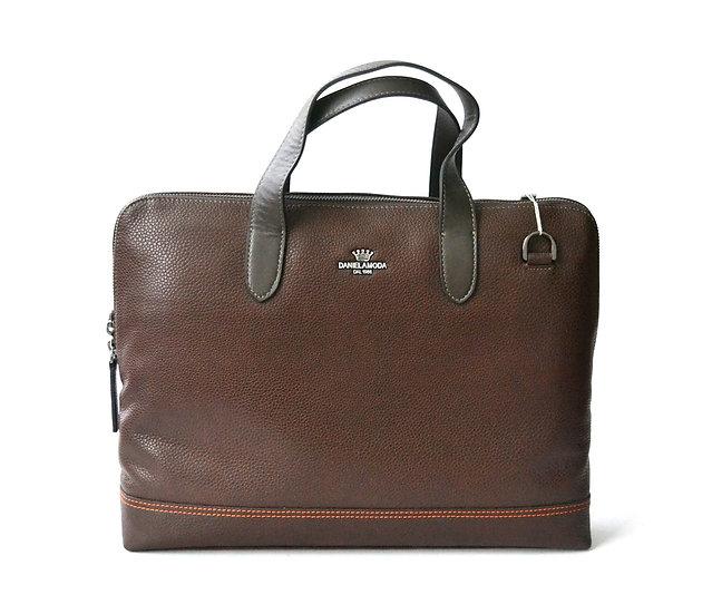 DANIELA MODA Soft Leather Briefcases Unisex