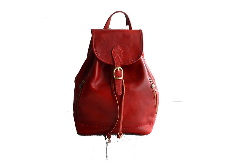 leather backpack for women made in Italy