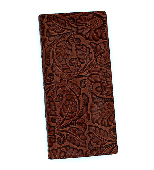 Leather long wallet Florence design Vera Pelle