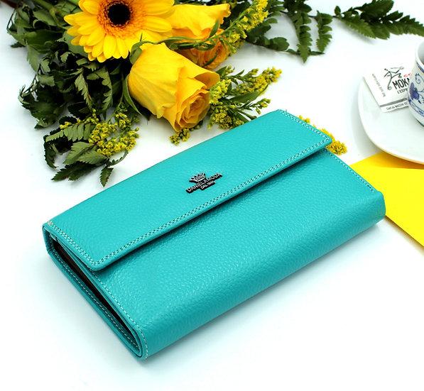 Women's Leather Wallet Medium Size Daniela Moda metal Clip