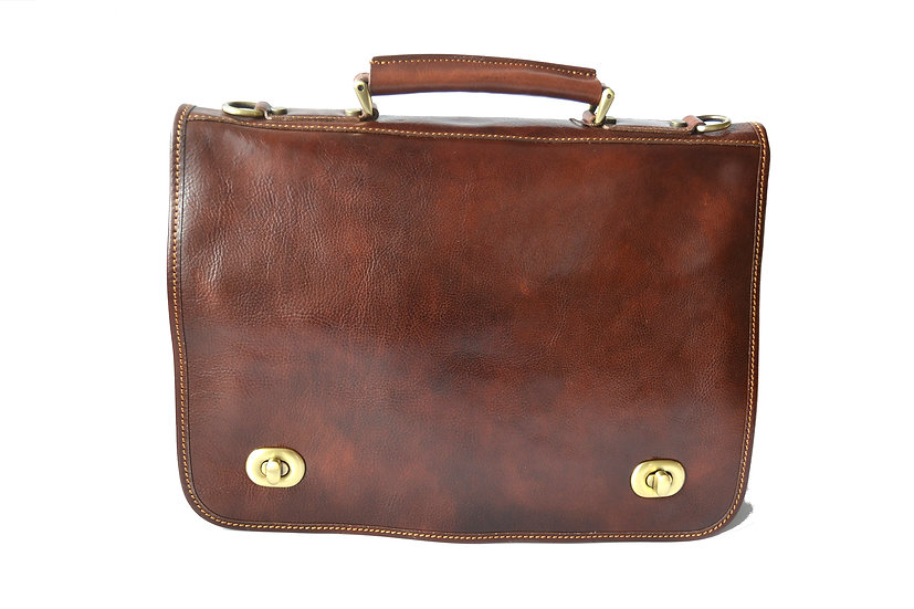Leather man Briefcase Made in Italy