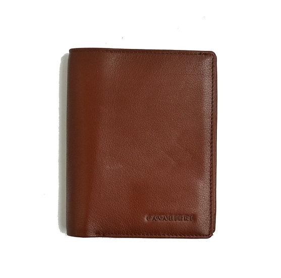 Man Leather Wallet Cavalieri Brown