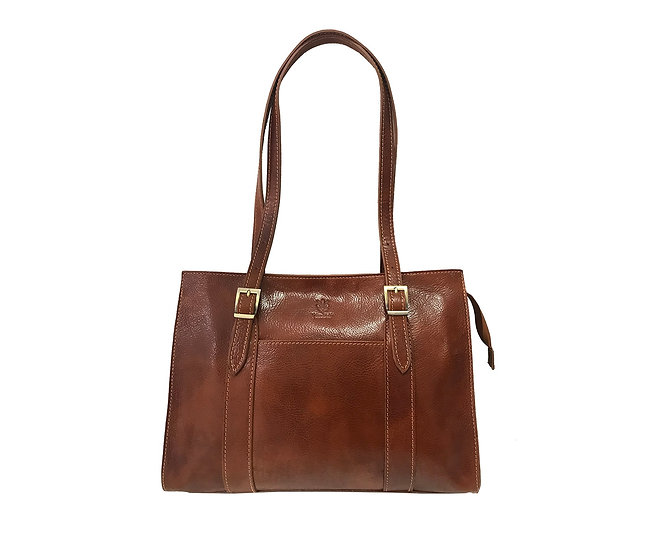 Leather bag made in Italy Vera Pelle