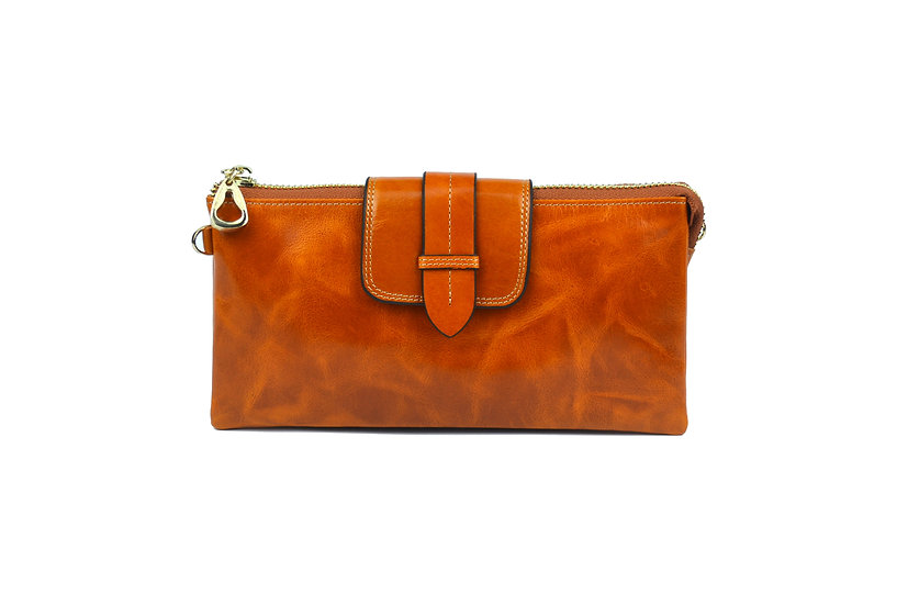 AMICA limited edition leather wallet-bag BROWN