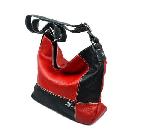 DANIELA MODA RED LEATHER BAG 157226dc33b69