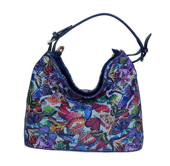 leather bag farfalla blue